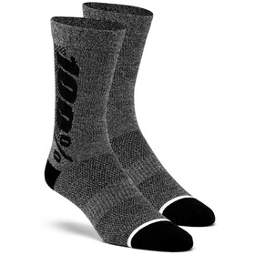 100% Rythym Socks charcoal/heather